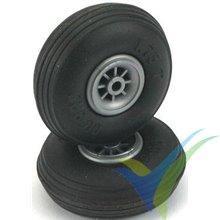 57x20mm Dubro 225T threaded wheel, 4mm shaft, 28g, 2 pcs