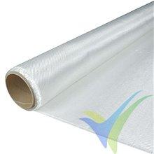 Tela de fibra de vidrio 160g/m², tejido twill, rollo 100cm x 10m