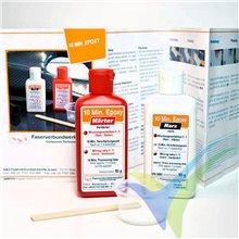 Adhesivo epoxi 10min R&G, kit 190g + espátula + vaso de mezcla