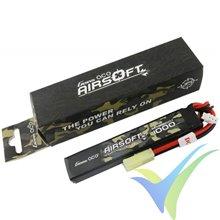 Batería LiPo Gens ace Airsoft 1000mAh (7.4Wh) 2S1P 25C 52g mini-Tamiya