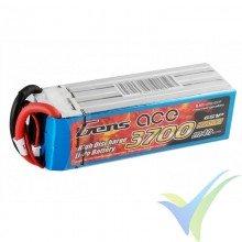 Gens ace LiPo Battery 3700mAh (82.14Wh) 6S1P 60C 606g EC5