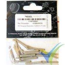 Bisagra espárrago nylon Modelimport 2.5x48mm, 10 uds