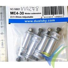 Separadores Dualsky ME4-30, M4 30mm para motor brushless, 53g