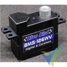 Servo digital Blue Bird BMS-126WV, 11.3g, 4.8Kg.cm, 0.08s/60º, 3.7V-7.4V