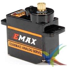 Servo analógico EMAX ES08MA II, 12g, 2Kg.cm, 0.1s/60º, 4.8V-6V