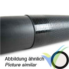 Tubo carbono con funda para bayoneta ala (31.2x0.6x800 / 30x1x800mm), 170 g