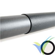 Tubo carbono con funda para bayoneta ala (13.7 / 12.5mm) x 1000mm