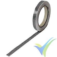 Cinta fibra carbono 10mm unidireccional 125 g/m², 3k, rollo 10m