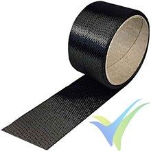 Cinta fibra carbono 50mm unidireccional 200 g/m², 3k, rollo 20m
