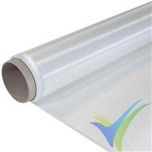 Tela de fibra de vidrio 80g/m², tejido twill, rollo 100cm x 20m