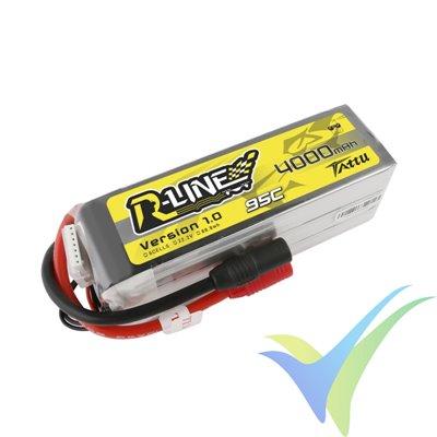 Batería LiPo Tattu R-Line - Gens ace 4000mAh (88.8Wh) 6S1P 95C 666g AS150