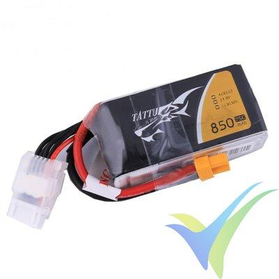 Batería LiPo Tattu - Gens ace 850mAh (12.58Wh) 4S1P 75C 109g XT60