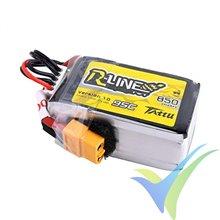 Batería LiPo Tattu R-Line - Gens ace 850mAh (12.58Wh) 4S1P 95C 108g XT60