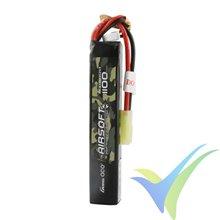 Batería LiPo Gens ace 1100mAh (12.21Wh) 3S1P 25C 77g mini Tamiya (Airsoft)