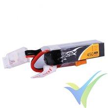 Batería LiPo Tattu - Gens ace 450mAh (5Wh) 3S1P 75C 45g XT30 (formato largo)