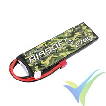 Batería LiPo Gens ace 2700mAh (19.98Wh) 2S1P 25C 136g Deans (Airsoft)