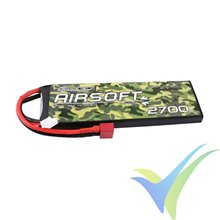 Batería LiPo Gens ace 2700mAh (19.98Wh) 2S1P 136g Deans (Airsoft)