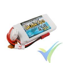 Batería LiPo Gens ace Soaring 450mAh (3.33Wh) 2S1P 30C 33g, JST-SYP