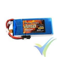 Batería LiFe Gens ace 2250mAh (14.85Wh) 2S1P 100g Futaba