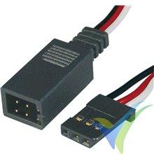 Cable Y 20cm para servo Futaba, 0.35mm2 (22AWG), Robbe