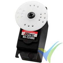 Servo analógico Hitec HS-225MG, 31g, 4.8Kg.cm, 0.11s/60º, 4.8V-6V