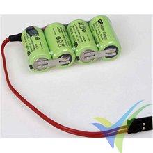Batería receptor Ni-MH GP 750mAh, 4.8V, 2/3AA, 57g