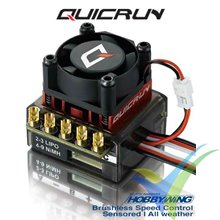 Variador brushless coche HobbyWing QuickRun 10BL60 con sensor, 60A, 2S-3S, BEC 2A, 59g