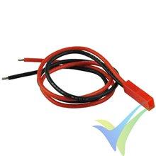 Conector JST BEC macho con cable silicona 30cm ya crimpado