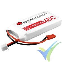 Batería LiPo Yuki Model Brainergy 1000mAh (7.4Wh) 2S1P 45C 58g JST-BEC