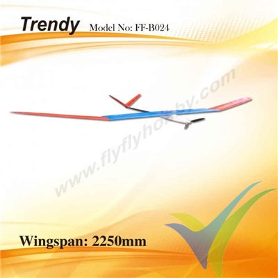 Kit motovelero FlyFly Hobby Trendy Electric Oracover, 2250mm, 800g
