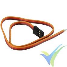 Repuesto cable servo 60cm JR/Hitec, conector macho