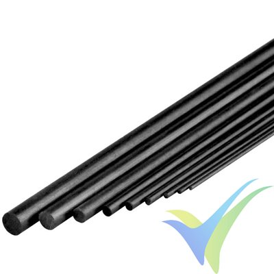 Varilla de carbono Ø7x1000mm