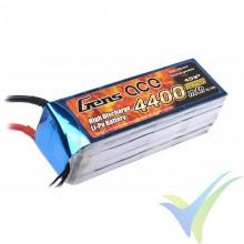 Batería LiPo Gens ace 4400mAh (65.12Wh) 4S1P 35C 451g Deans