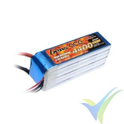 Batería LiPo Gens ace 4400mAh (97.68Wh) 6S1P 45C 675.6g EC5