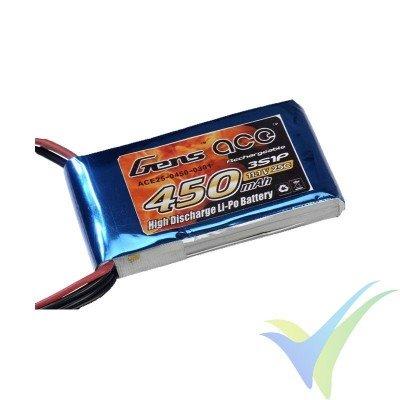 Batería LiPo Gens ace 450mAh (5Wh) 3S1P 25C 46.9g JST-SYP