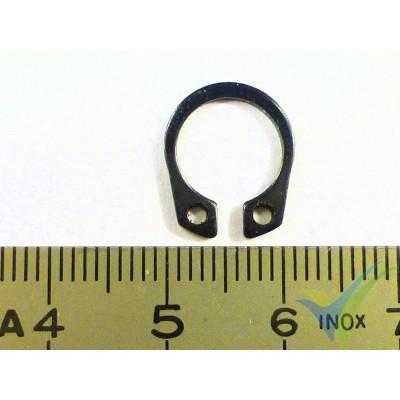 Clip acero EMP 11.5x9.2x0.9mm, para eje de motor