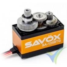 Servo digital Savox SA1258TG especial avión, 52.4g, 12Kg.cm, 0.08s/60º, 4.8V-6V