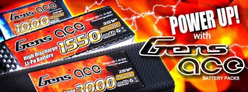 Las baterías Gens ace te ofrecen potencia y larga vida