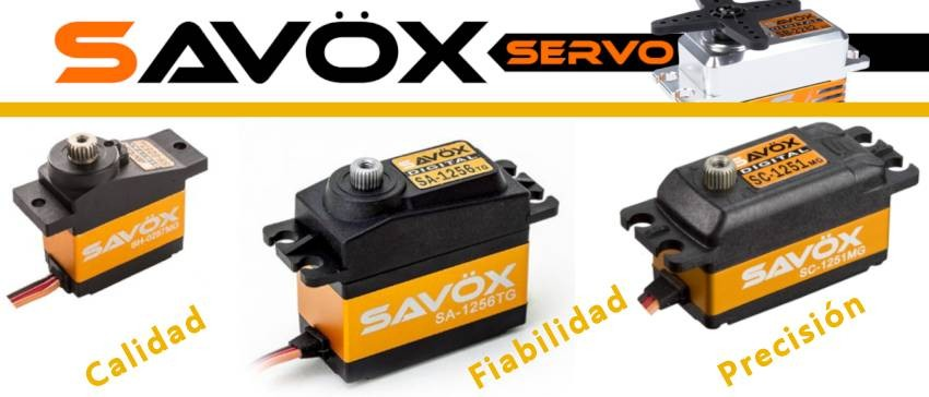 Servos Savöx, cuando la calidad, fiabilidad y precisión son factores importantes