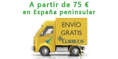 Free shipping on orders over 75 €, only for peninsular Spain and 72h Correos carrier