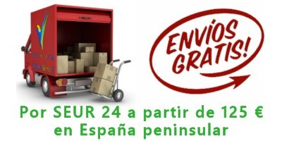 Free shipping on orders over 125 €, only for peninsular Spain and 24h SEUR carrier